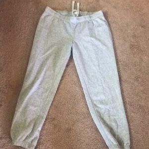 Pink Victoria's Secret grey sweatpants
